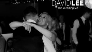 Bride and groom sharing a moment on the dancefloor