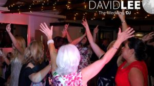 Hands in the air at Manchester Wedding