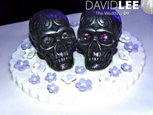 Wedding Cake Toppers - Skullls
