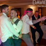 Groom Dancing and Laughing