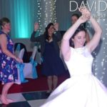 Bride dancing at manchester wedding