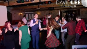 Guests dancing at Burnley Engagement Party