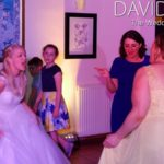 Bride giving it everything at Wedding