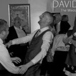 Groom Dancing with guests at Wedding