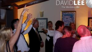 Wedding Guests dancing at Joshua Bradley