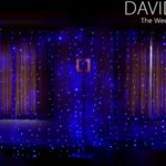 Blue Fairylights Naked Backdrop