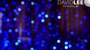 Blue Fairyligths Backdrop