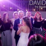 Circle of friends at Saddleworth Wedding