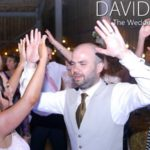 Hands in the air at Saddleworth Wedding