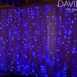 Semi-Naked Backdrop Blue fairy lights