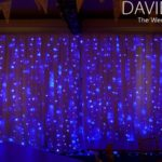 Semi Naked Backdrop Blue fairy lights