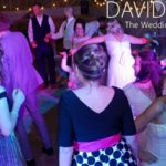 Smiling dancing bride at Saddleworth Wedding