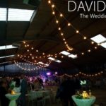 Upperwood House Barn Wedding DJ and Festoons