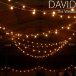Wedding venue lighting with Festoons