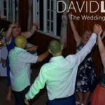 Hands in the air at Cheshire Wedding