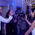 Bride and groom dancing at Leighton Hall