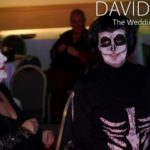Skeleton Costume at Halloween Wedding